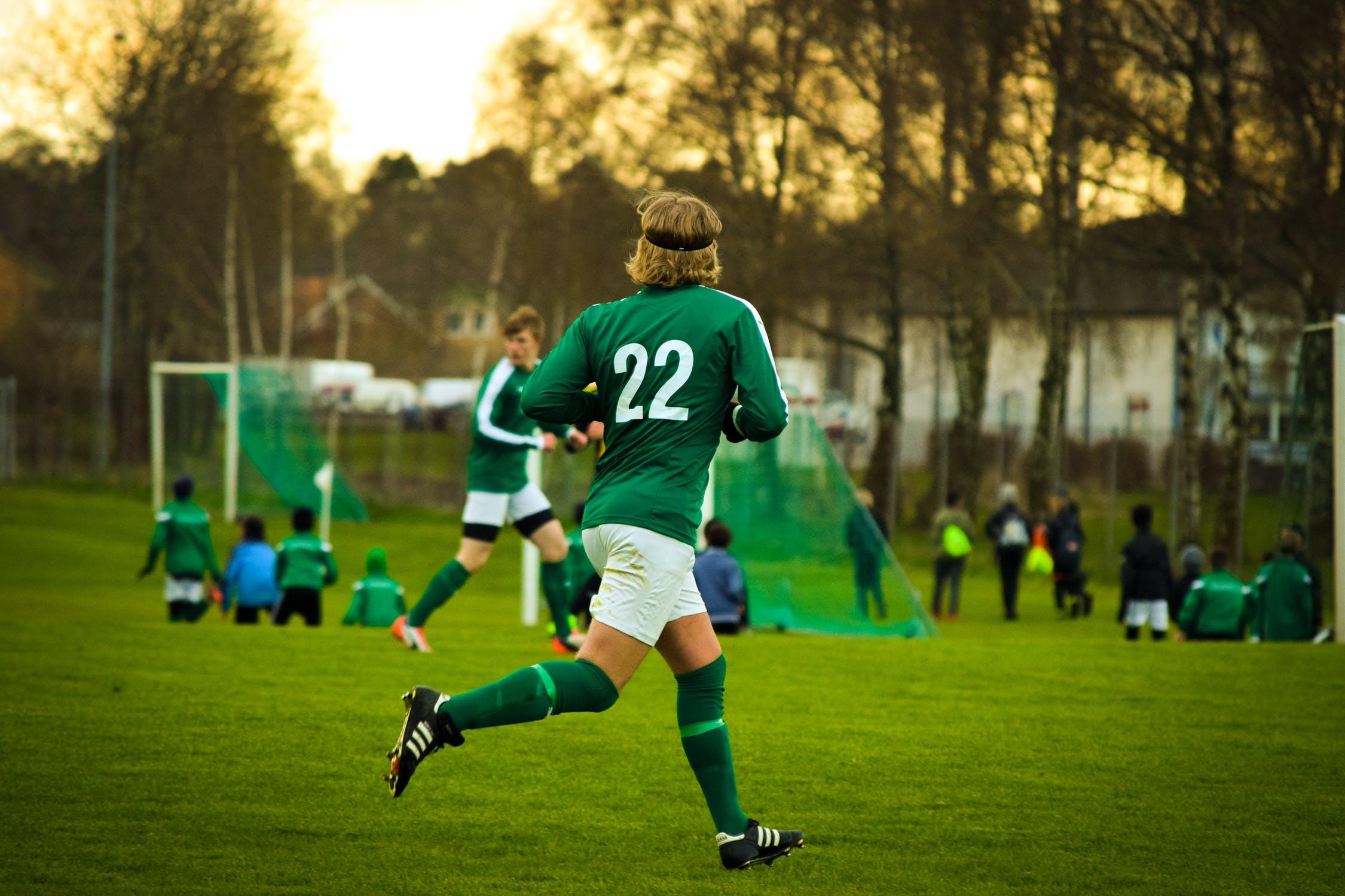 Młody piłkarz bez kontuzji